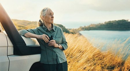 Jane-Next-to-car | Jane Goodall Institute Australia